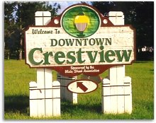 Welcome to Downtown Crestview, Florida.