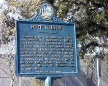 The origin of historic Fort Walton Beach, Florida.