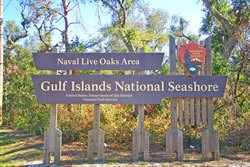 The Gulf Islands National Seashore in Gulf Breeze is one of the most beautiful beaches in the Florida Panhandle.